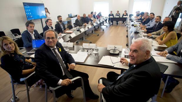 Torra y Maragall, durante la reunión del patronato del Diplocat