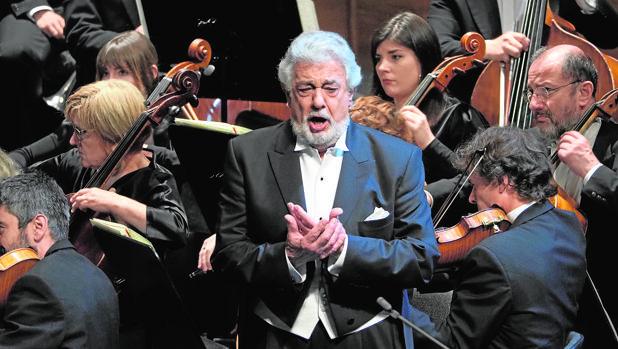 Plácido Domingo, en una actuación reciente en el Liceu