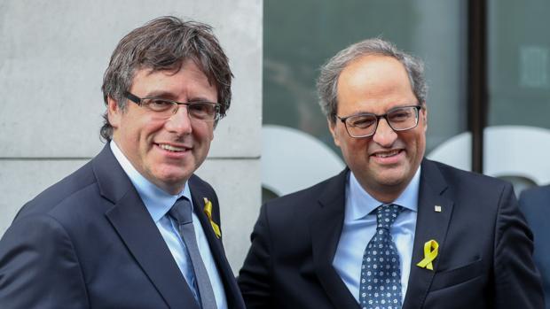 El expresidente Puigdemont y el presidente Torra en Bélgica