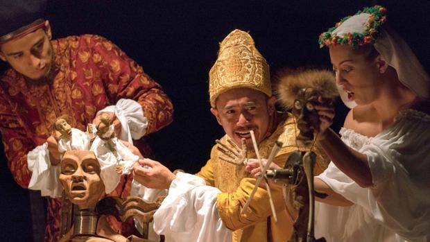 La obra «Quijote, espejo del hombre» que representó a Colombia , país invitado en esta edición