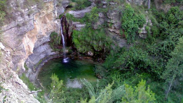Imagen de las aguas que ofrece el paraje de Montanejos (Castellón)