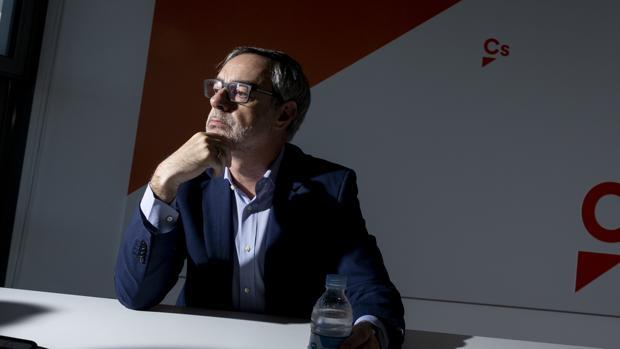 Jose Manuel Villegas, vicesecretario general de Ciudadanos, durante la entrevista con ABC