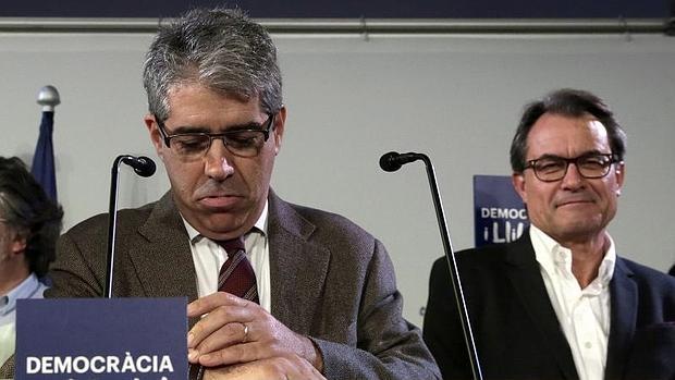 Francesc Homs y Artur Mas en un acto de partido