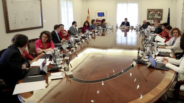 Reunión del Consejo de Ministros en La Moncloa