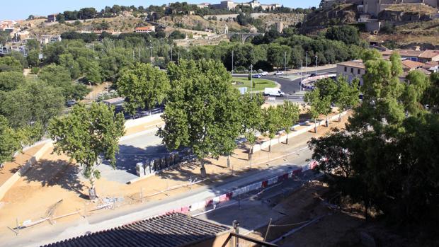 El estado de las obras en el parque de Safont a mediados de julio de este año