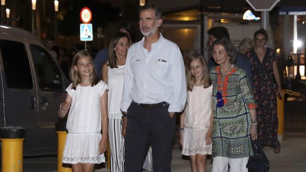 La Familia Real de España el pasado sábado en Portixol