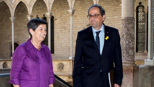 Cunillera y Torra, en el Palacio de la Generalitat, el pasado 23 de julio