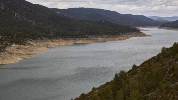 Imagen de uno de los pantanos de la cabecera del Tajo