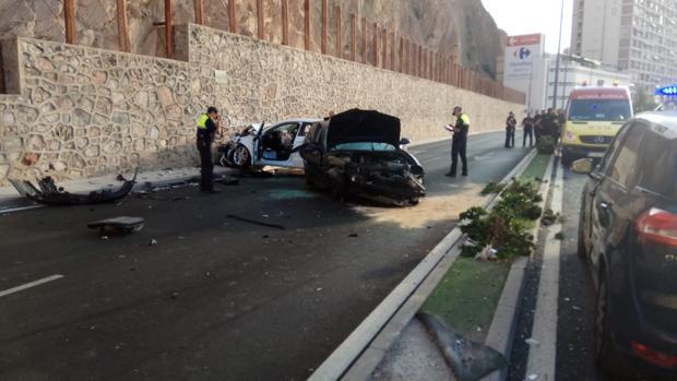 Imagen del accidente provocado en La Cantera