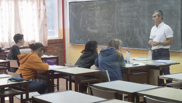 Alumnos en un centro privado madrileño