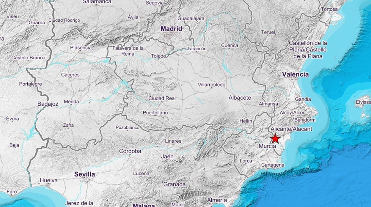 Un terremoto de 4,2 grados de magnitud sacude Alicante y Murcia