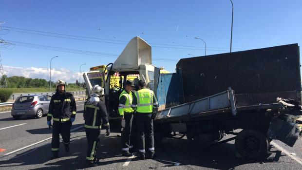 Imagen de archivo de un accidente de camión