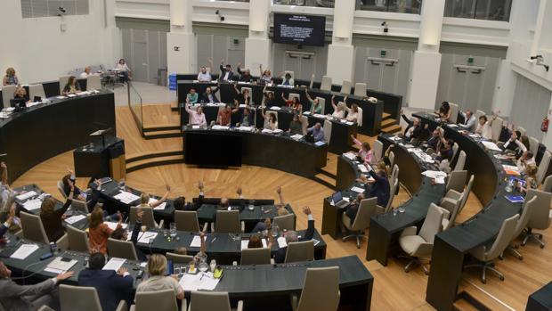 Pleno de Madrid donde se ha votado una claúsula denunciando los atentados contra los derechos humanos en Nicaragua