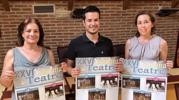 Javier Dueñas, Margarita Palencia y María José Gutiérrez han presentado la nueva edición de la Semana de Teatro