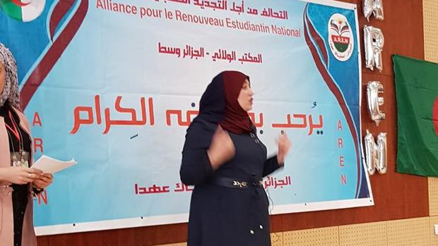 Naima Salhi el 8 de Marz de 2018