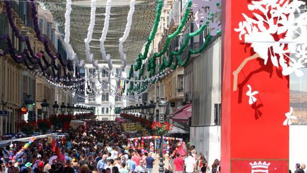 Visitantes en la Feria de Málaga de este año