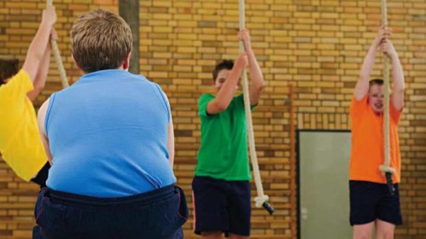 Imagen de archivo de jóvenes en una clase de gimnasia