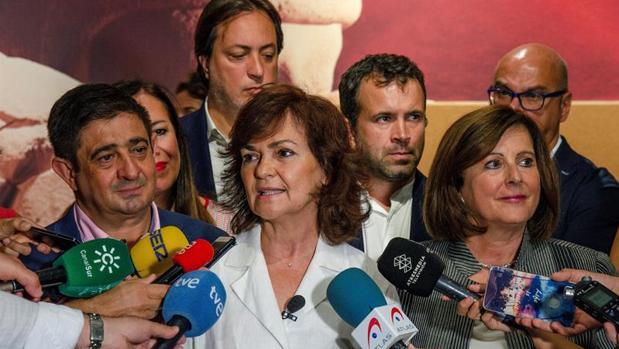 La vicepresidenta del Ejecutivo, Carmen Calvo