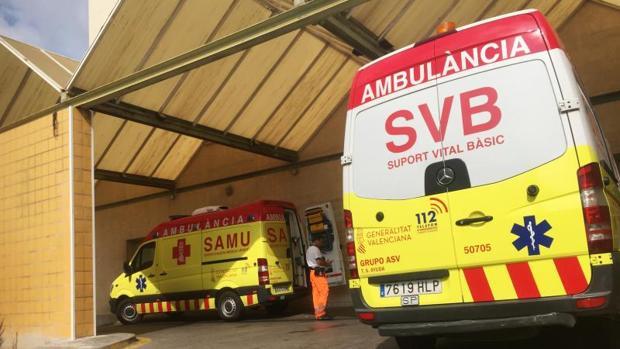 Ambulancias del SAMU y del SVB
