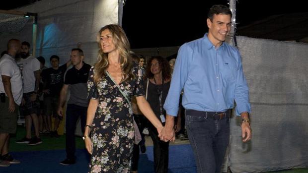 Pedro Sánchez y su esposa, Begoña Gómez, en el FIB de Castellón