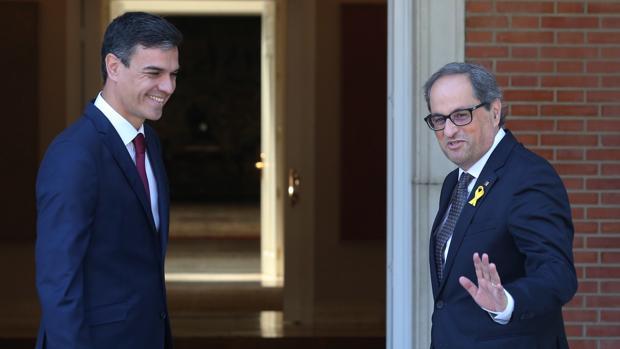 Torra y Sánchez en el Palacio de la Moncloa