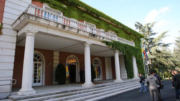 Fachada del Palacio de la Moncloa, Madrid, en 2018