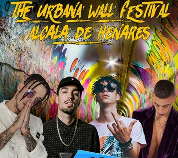 Cartel del festival The Urbana Wall de Alcalá de Henares