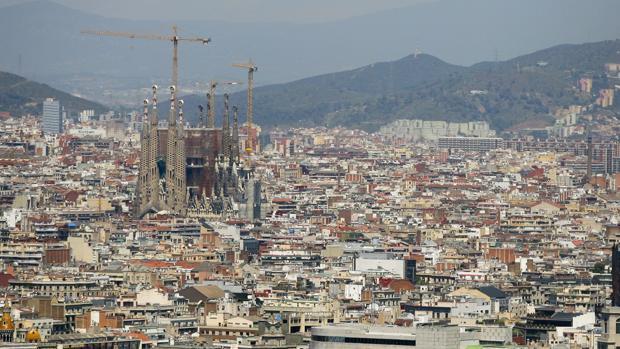 Vista aérea de Barcelona en una imagen de archivo