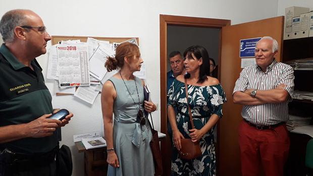 La alcaldesa de Torre de Juan Abad, María Fresneda, en la Subdelegación del Gobierno de Ciudad Real