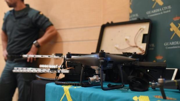 Drones del Equipo Pegaso de la Guardia Civil, presentados hoy