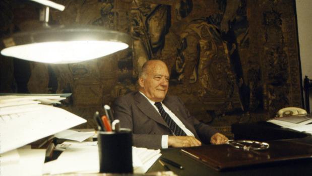 Josep Tarradellas, en su despacho de la Generalitat, en octure 1979