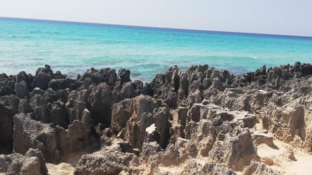 Aguas azules de Formentera