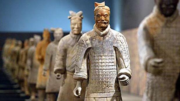 Guerreros de Xi'an en una exposición reciente