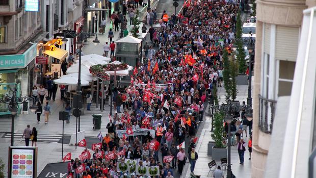 Manifestación por las calles de León