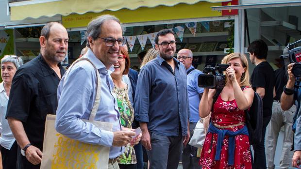 El presidente de la Generaltat, Quim Torra, visita la 36a Semana del Libro en Catalán