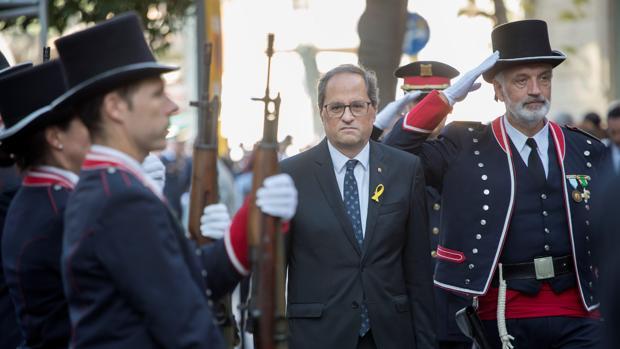 El presidente catalán, Quim Torra, este martes durante la Diada