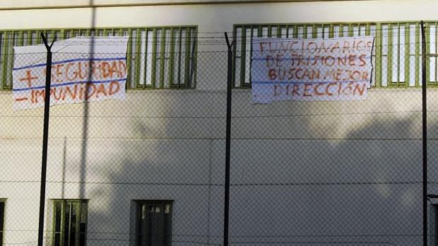 Imagen de archivo de unas pancartas de protesta en la prisión de Picassent