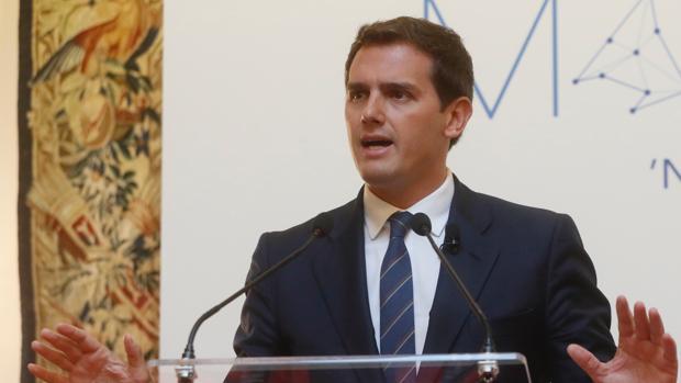 Albert Rivera ayer, en Madrid