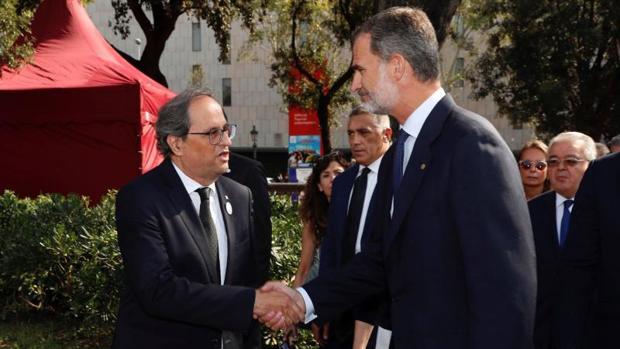 Torra y el Rey coincidieron por última vez en Barcelona el 17 de agosto en el homenaje a los atentados