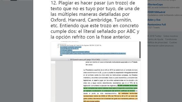Plagio encontrado en la tesis de Pedro Sánchez
