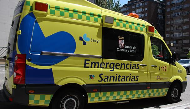 El herido ha sido trasladado en ambulancia al Hospital de Burgos