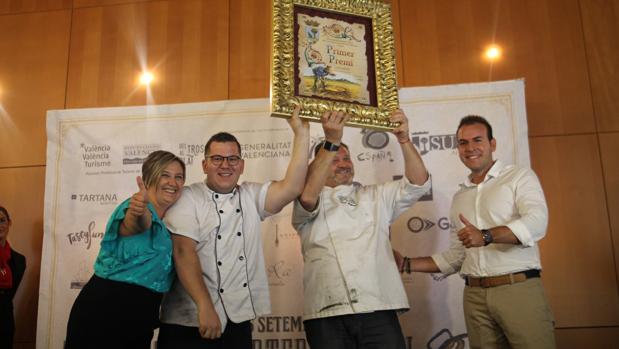 Los ganadores del concurso de paella valenciana