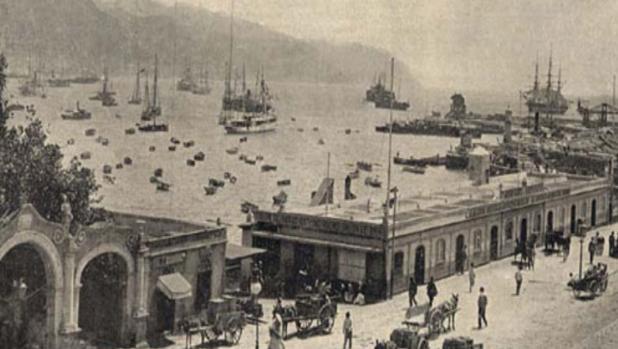 Puerto de Santa Cruz de Tenerife en 1800