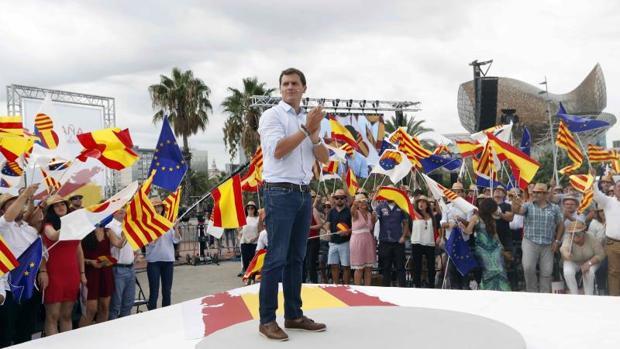 Albert Rivera, ayer, en un acto de España Ciudadana en Barcelona