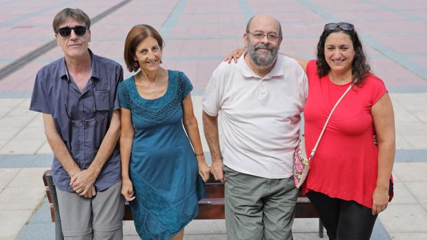 Ángel Sánchez (Teloncillo), María J. Sánchez (Es.Arte); Tomás Martín (La Quimera) y Esther Pérez (Pie Izquierdo)