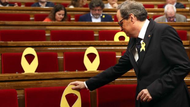 El presidente Quim Torra en el Parlament