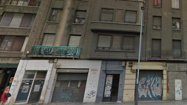 Bloque «okupado» objeto de la disputa, en el número 91 de la zaragozana Avenida de Goya