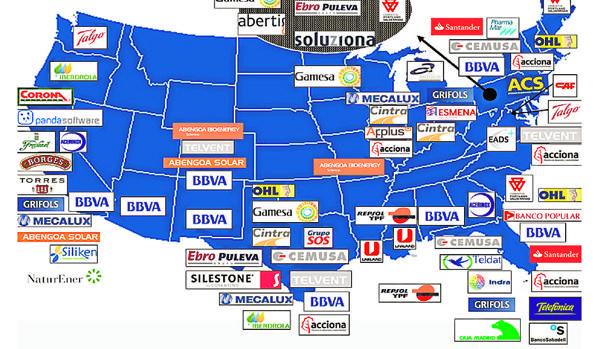 Mapa de EE.UU. en la tesis de Sánchez