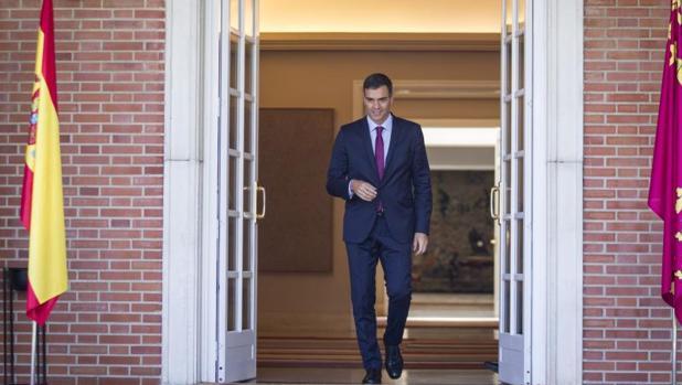 Pedro Sánchez, al salir de La Moncloa
