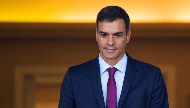 Pedro Sánchez, ayer, en Moncloa
